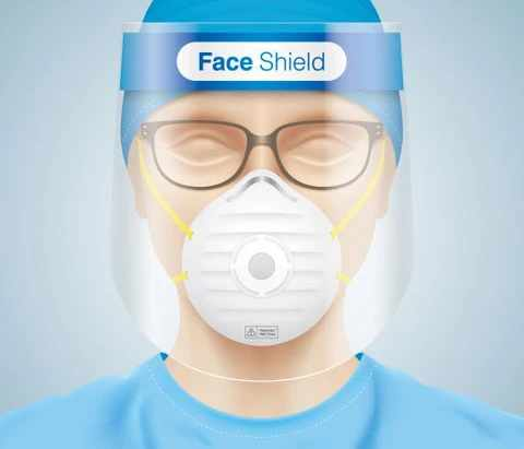 a face shield
