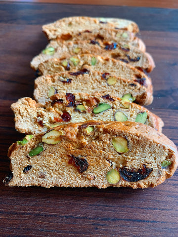Cantuccini (Pistachios + Cranberries)