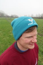 Load image into Gallery viewer, Teal Beanie Hat.
