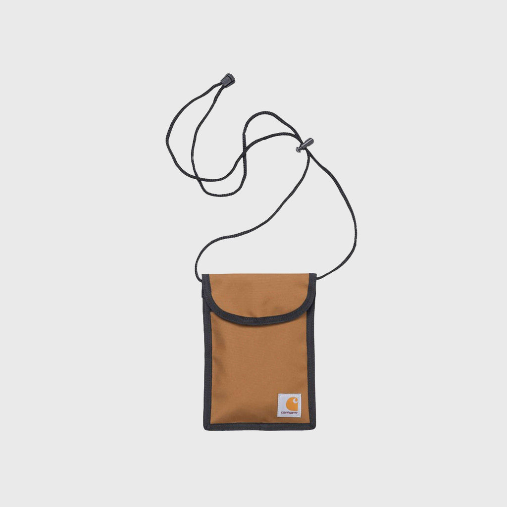 Carhartt WIP Collins Neck Pouch - Hamilton Brown Front View