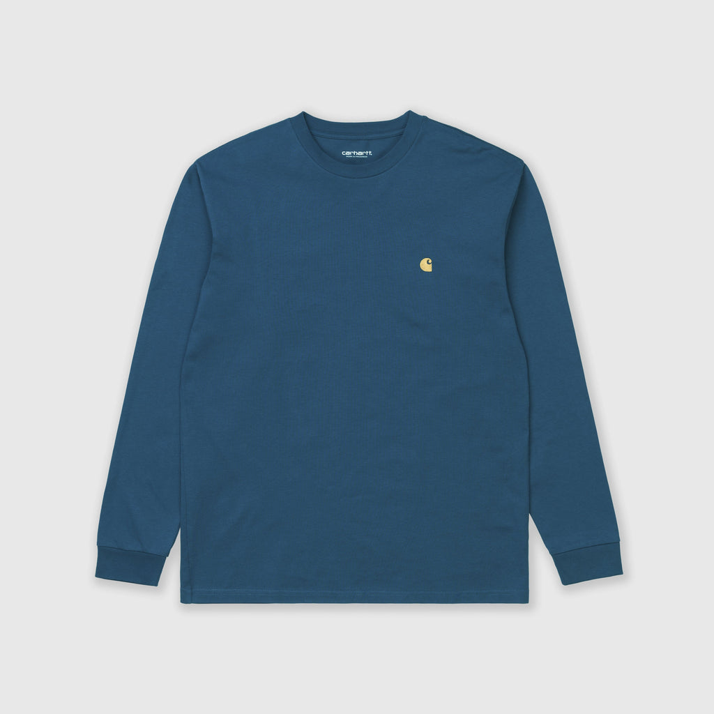Carhartt WIP LS Chase Tee - Corse / Gold Front