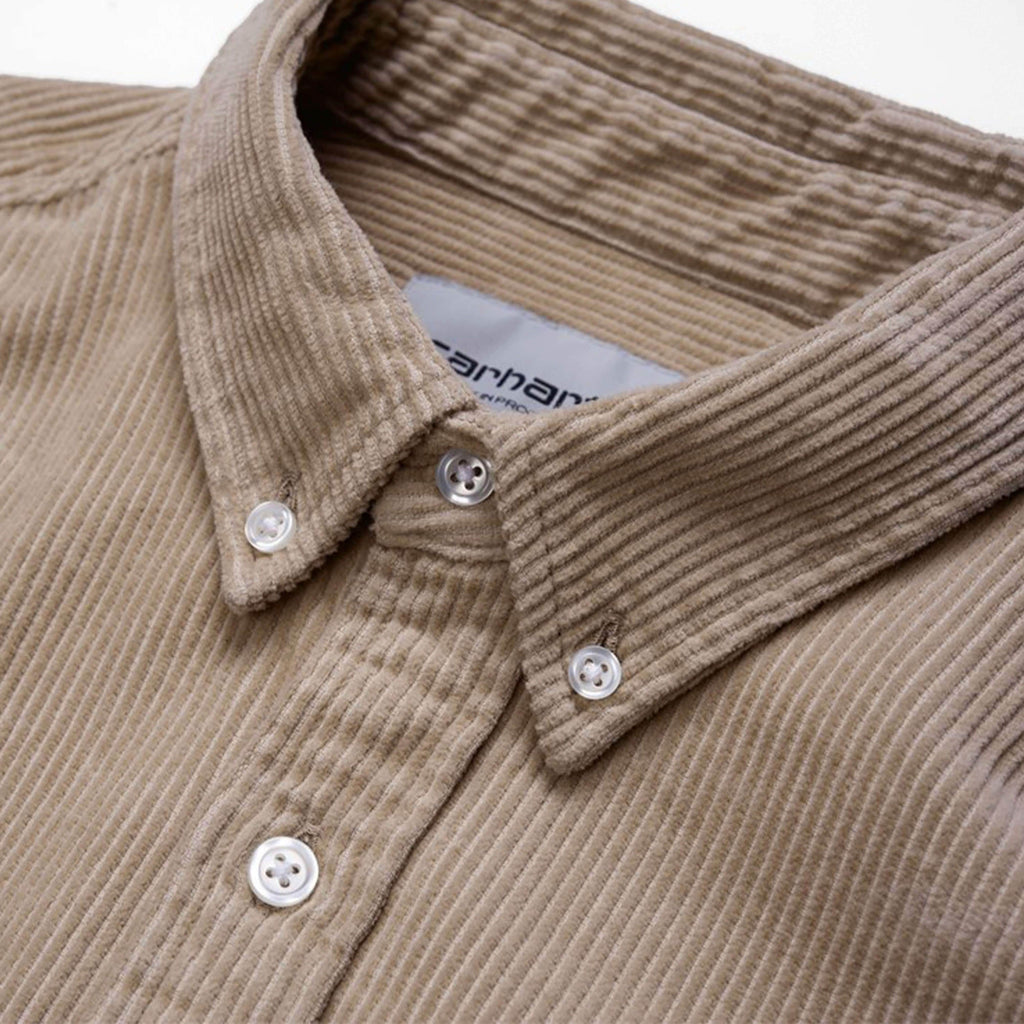 Carhartt WIP Madison Cord Shirt - Wall / Black Collar