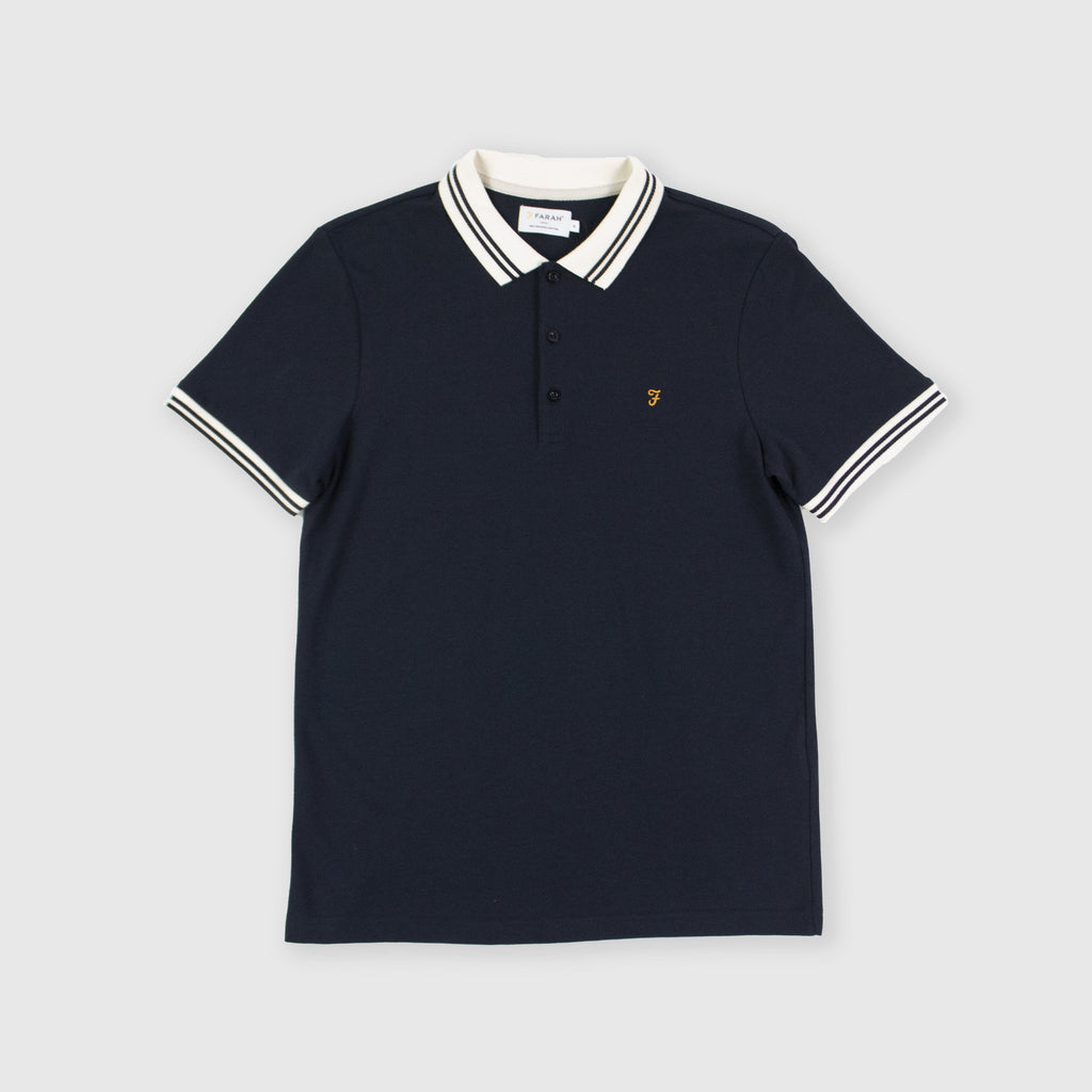 Farah SS Stanton Polo - True Navy Front
