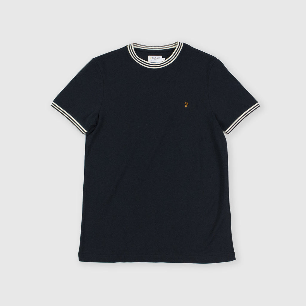 Farah SS Texas Tee - True Navy Front