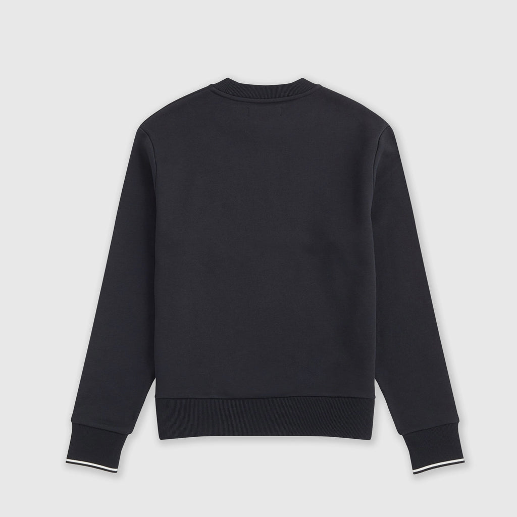 Fred Perry Crew Neck Sweatshirt - Black Back