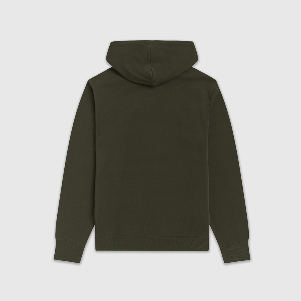 Fred Perry Embroidered Hooded Sweatshirt - Hunting Green Back