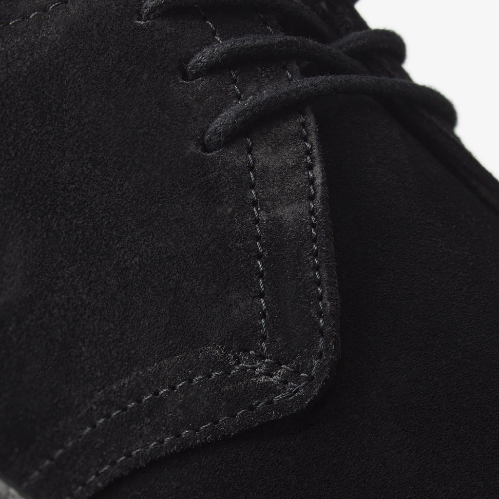 Fred Perry Linden Suede - Black Up Close