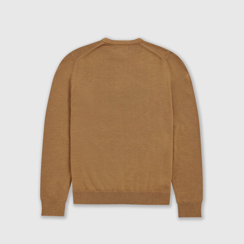 Fred Perry Classic Crew Neck Jumper - Caramel Back
