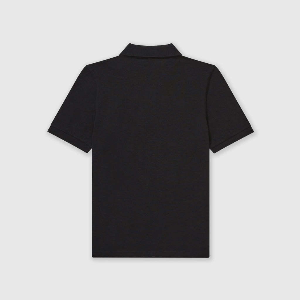 Fred Perry SS Plain Fred Perry Shirt - Black / Chrome Back