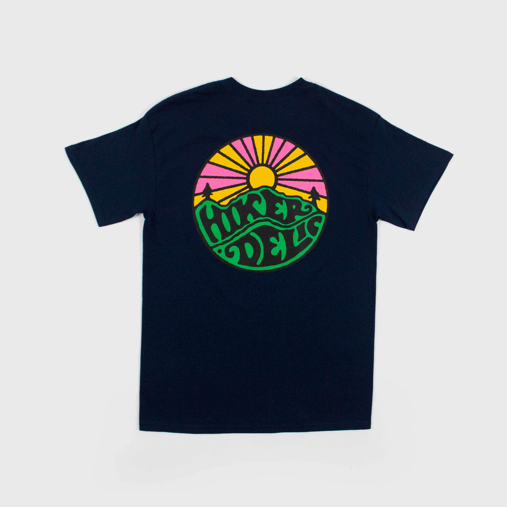 Hikerdelic Original Logo tee Navy Back