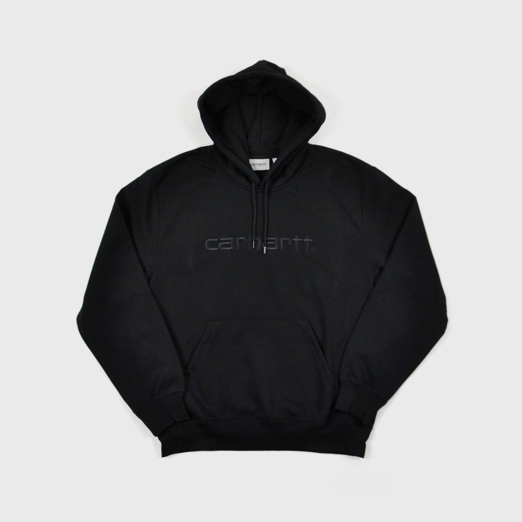 Carhartt Hooded Carhartt Sweat - Black / Black Front View
