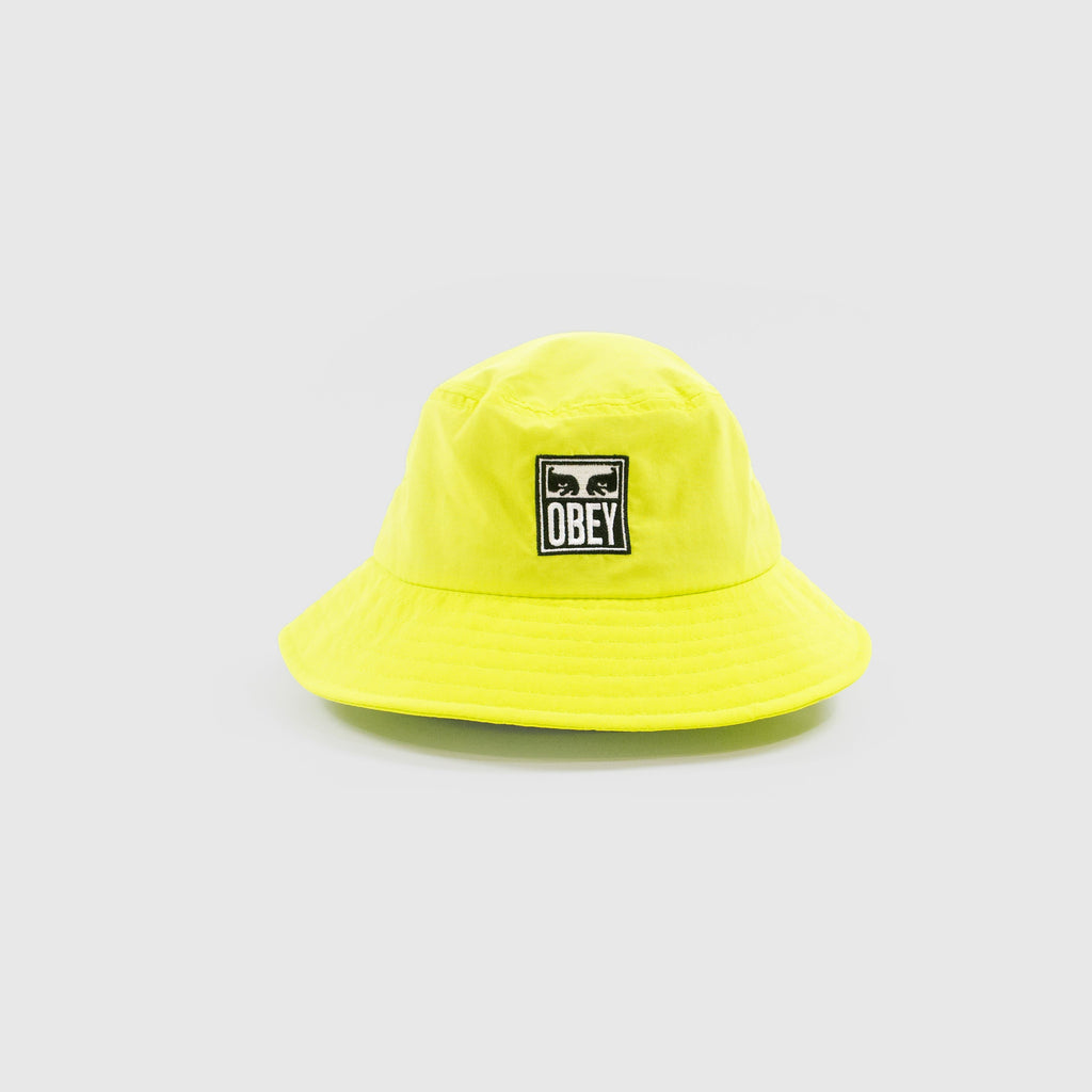 Obey Icon Eyes Bucket Hat - Key Lime Front View
