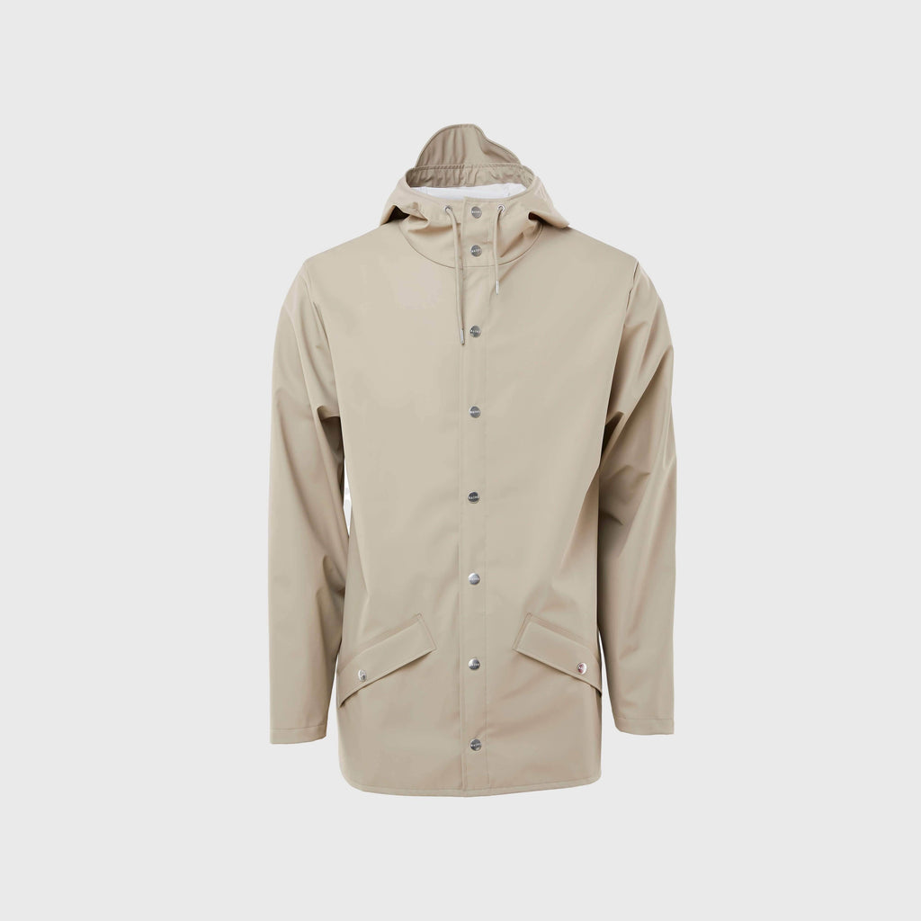 Rains Classic Waterproof Jacket Beige Front