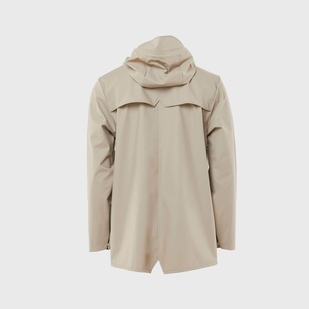 Rains Classic Waterproof Jacket Beige Back