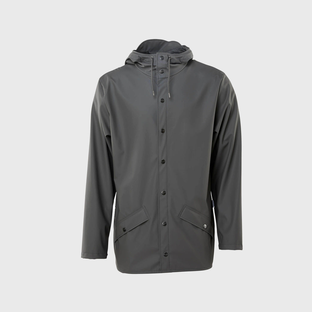 Rains Classic waterproof Jacket Charcoal Front