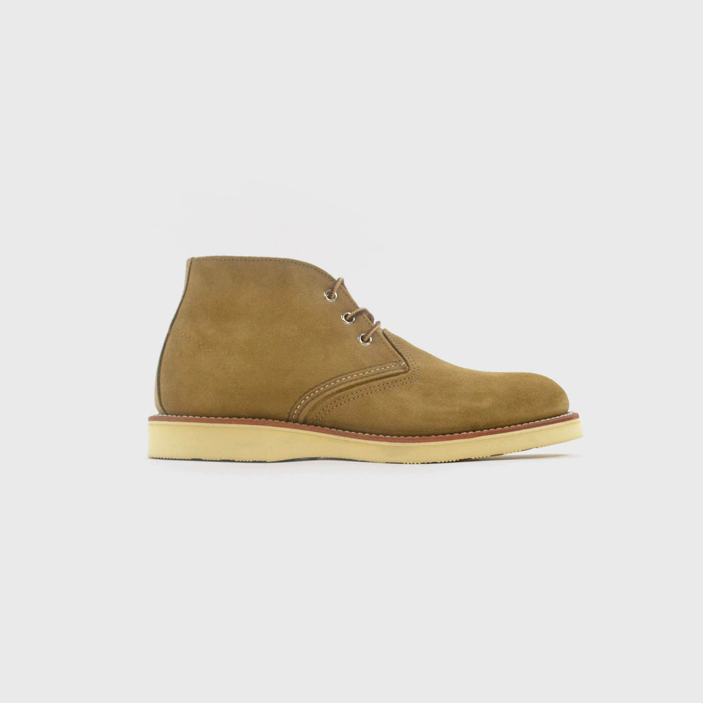 Redwing Work Chukka Boot Olive Mohave Side View