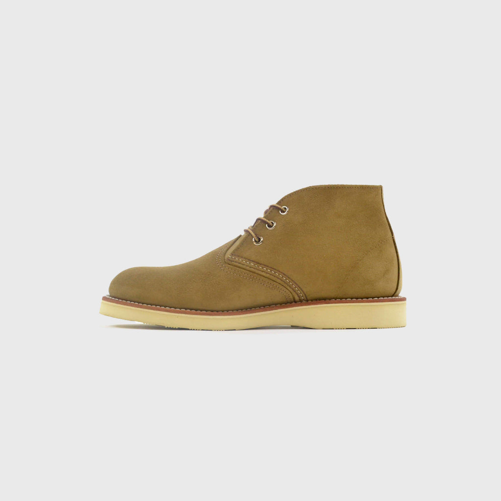 Redwing Work Chukka Boot Olive Mohave Inner Outside View