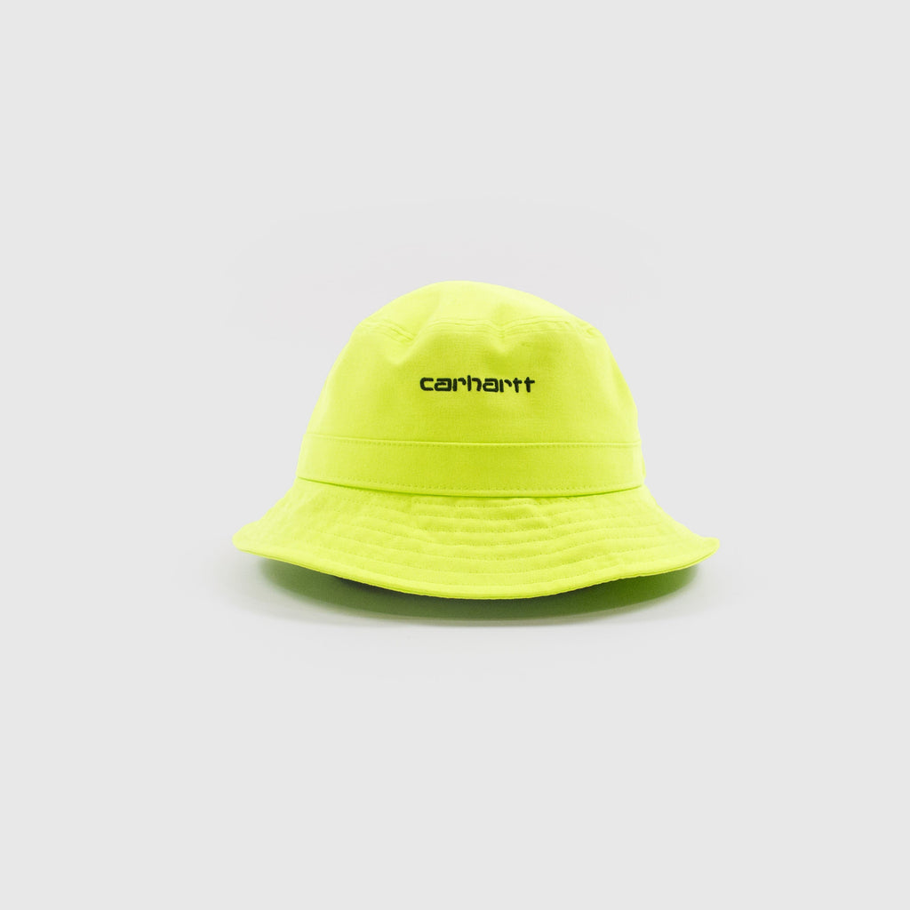 Carhartt Script Bucket Hat - Lime Front View