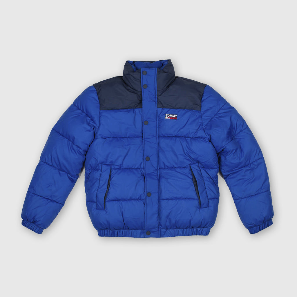 Tommy Jeans Cop Puffa Jacket - Providence Blue / Multi Front