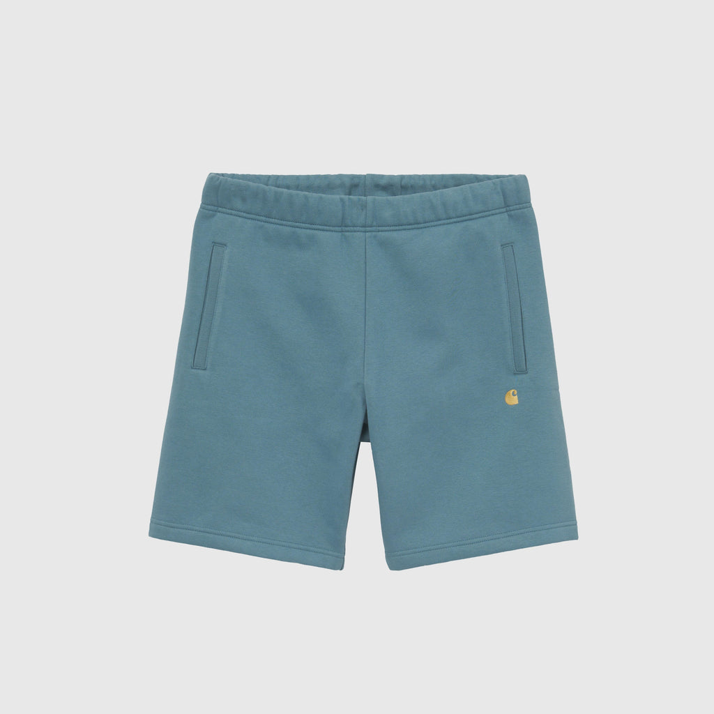 Carhartt WIP Chase Sweat Short - Hydro / Gold Front
