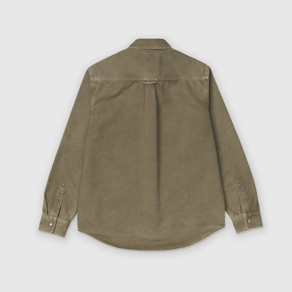 Carhartt WIP L/S Glenn Shirt Jacket - Hamilton Brown Back