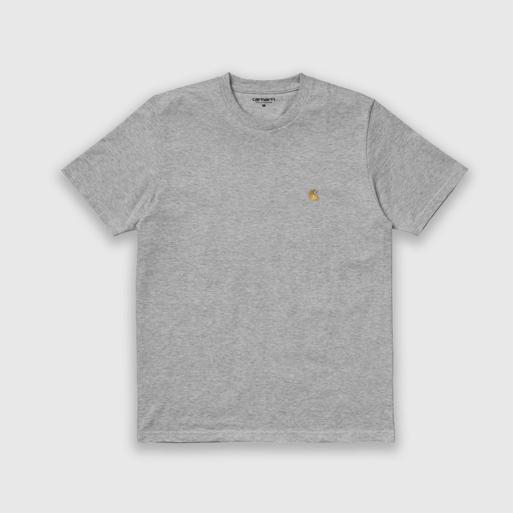 Carhartt WIP SS Chase Tee - Grey Heather / Gold Front