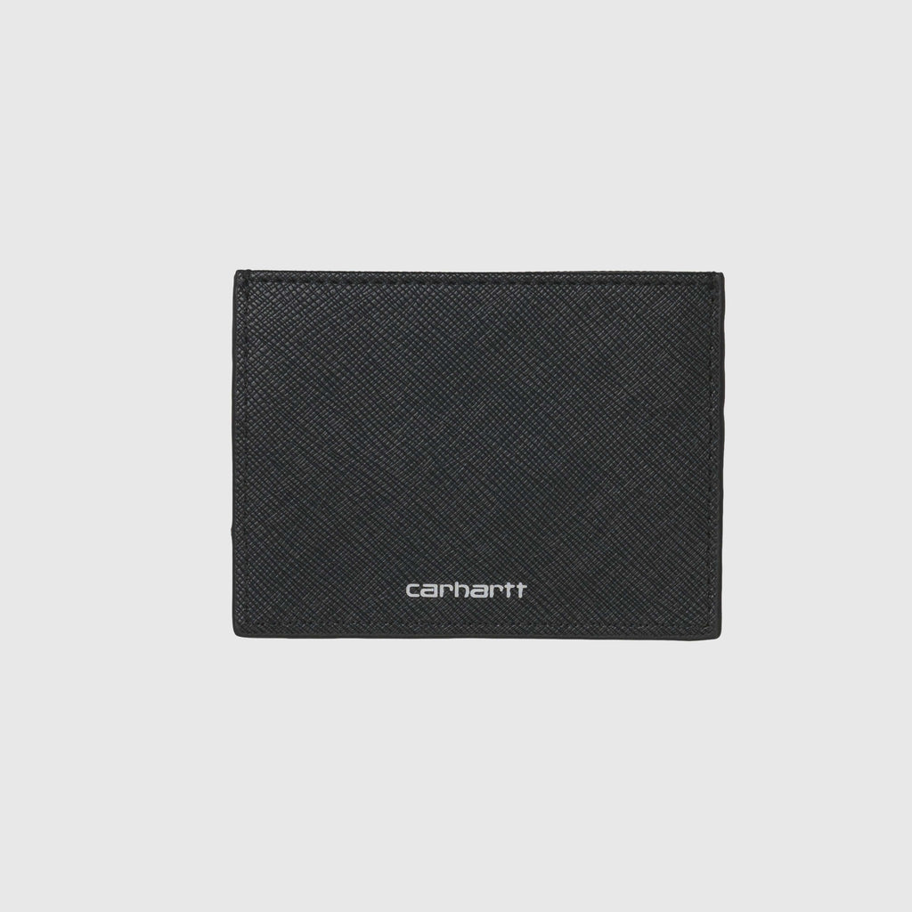 Carhartt WIP Coated Card Holder - Black / White Front