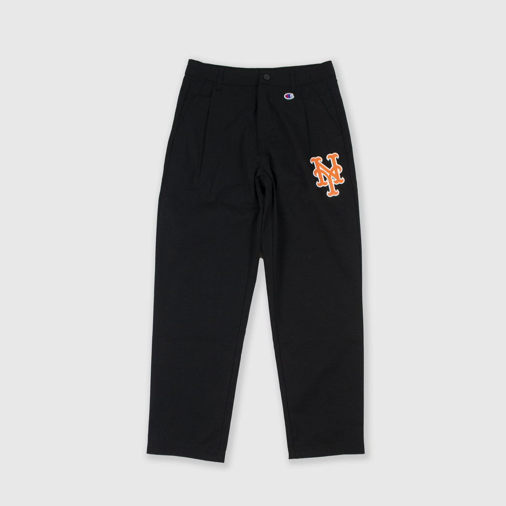 Champion Mets Pleated Pant - Black Front