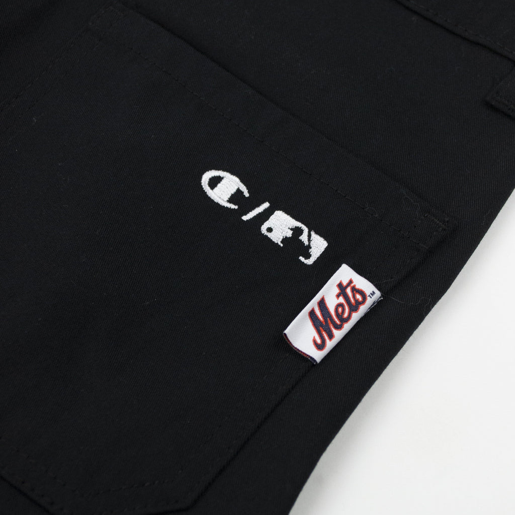 Champion Mets Pleated Pant - Black Back logos