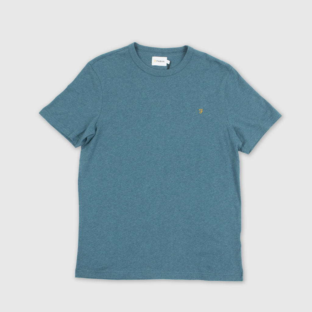 Farah SS Danny Tee - Rich Turquoise Front
