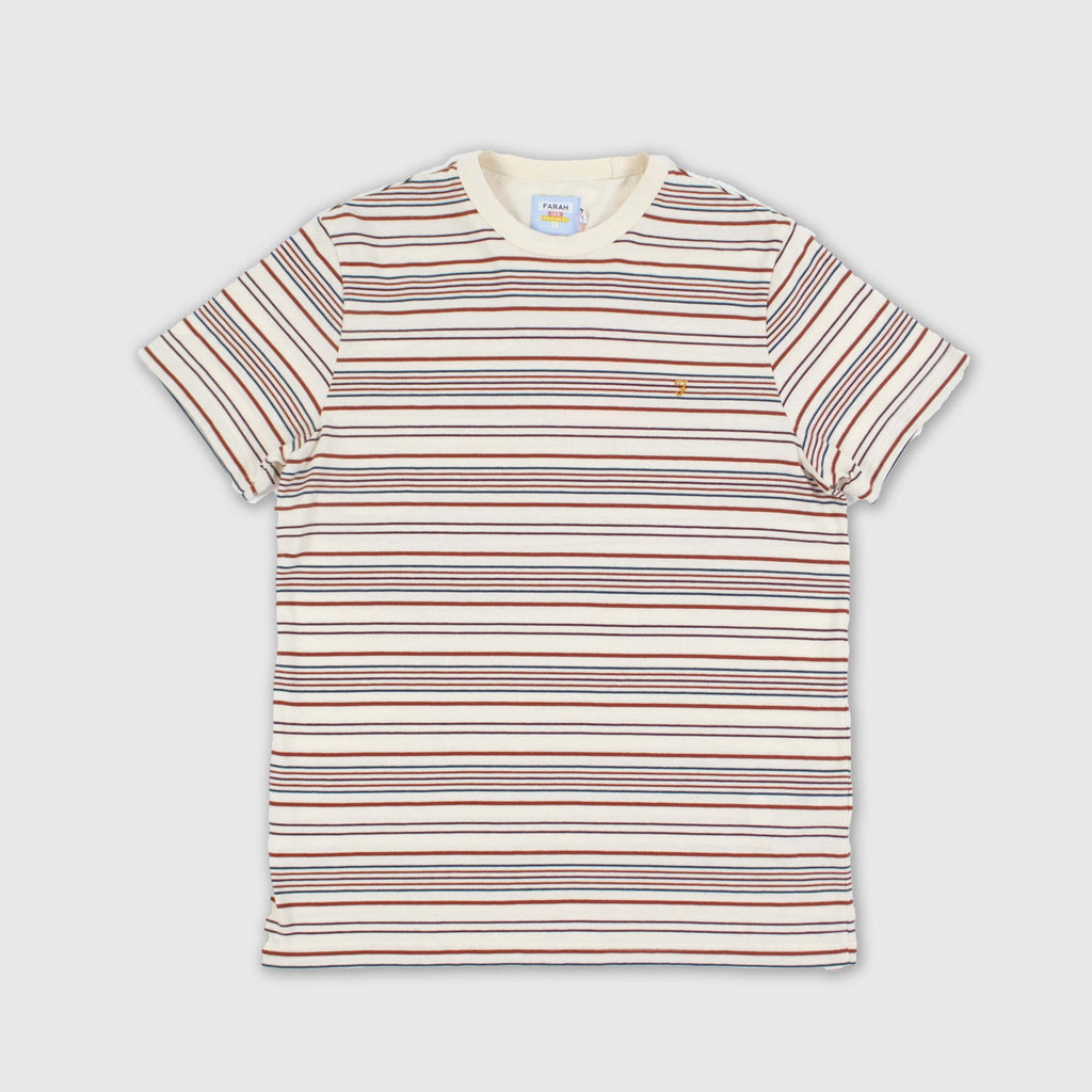Farah SS Rosedale Tee - Cream Front