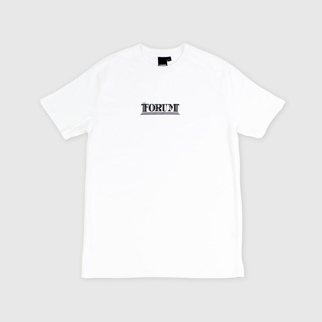 The Forum SS Columns Tee - White Front