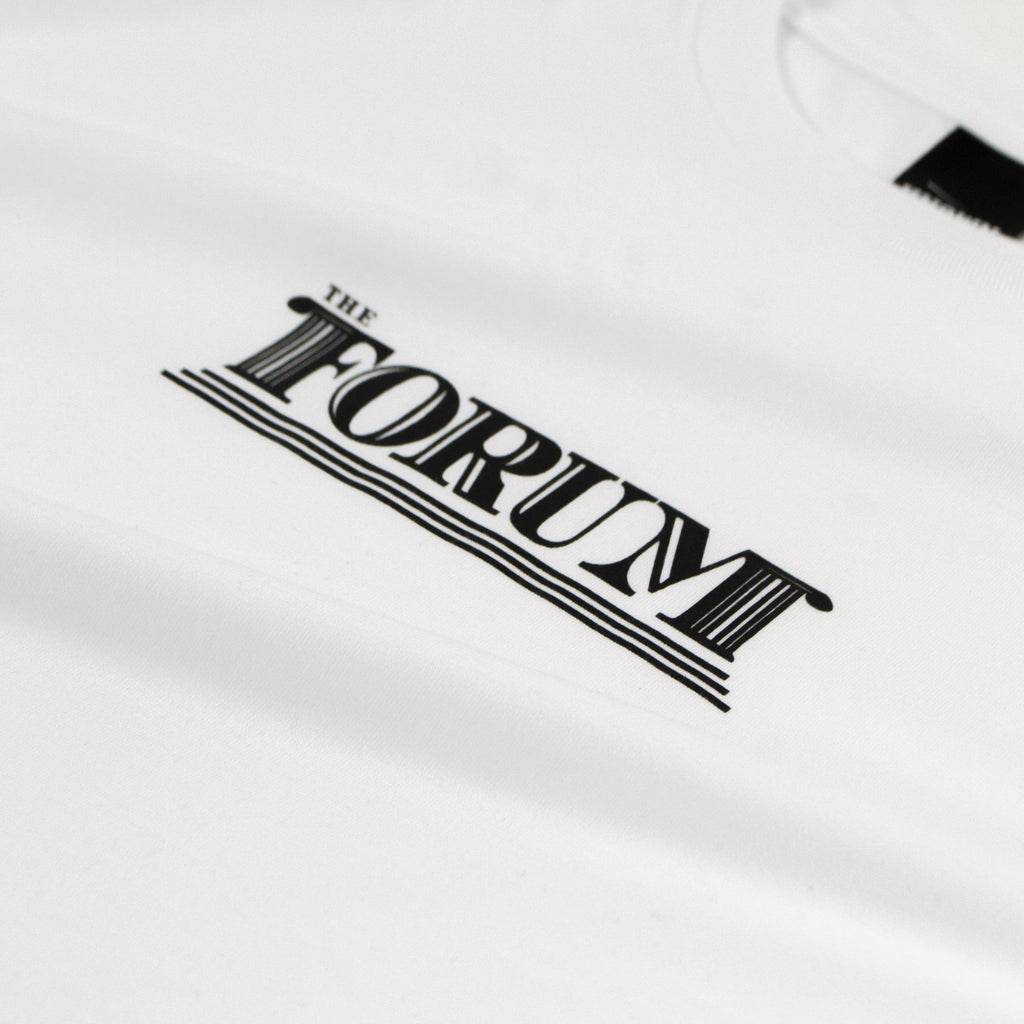 The Forum SS Columns Tee - White Graphic