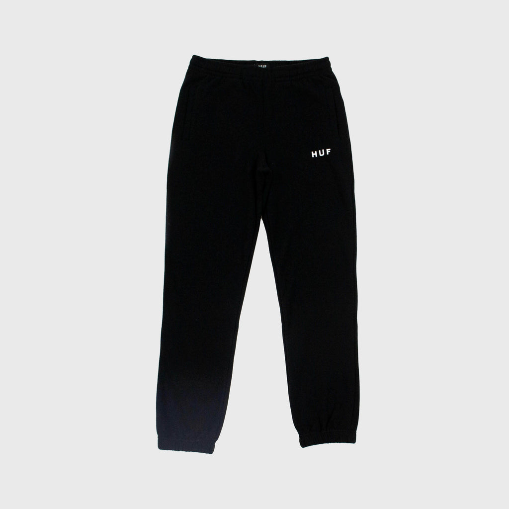 HUF Essentials Original Fleece Pant - Black Front