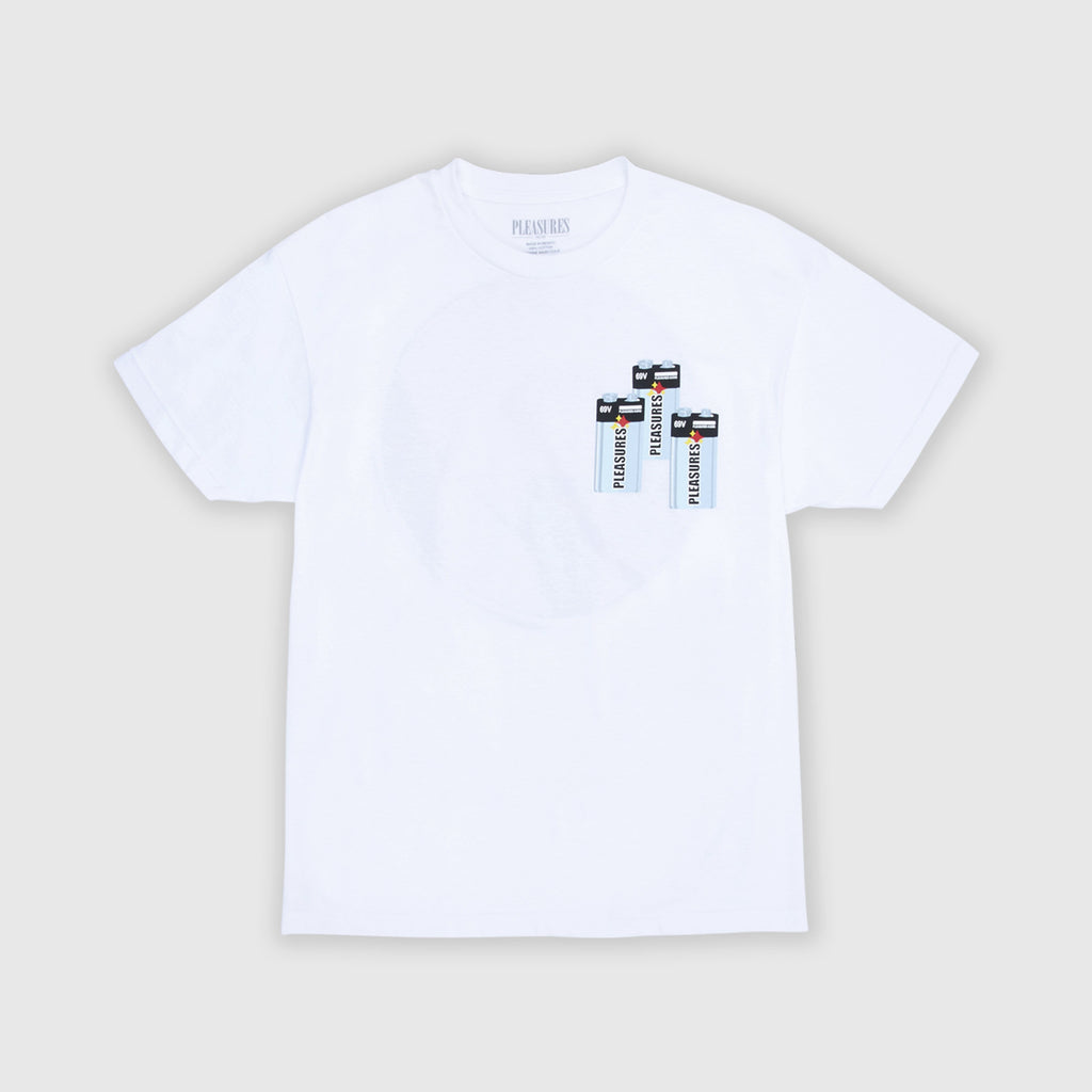 Pleasures SS Charge Tee - White Front