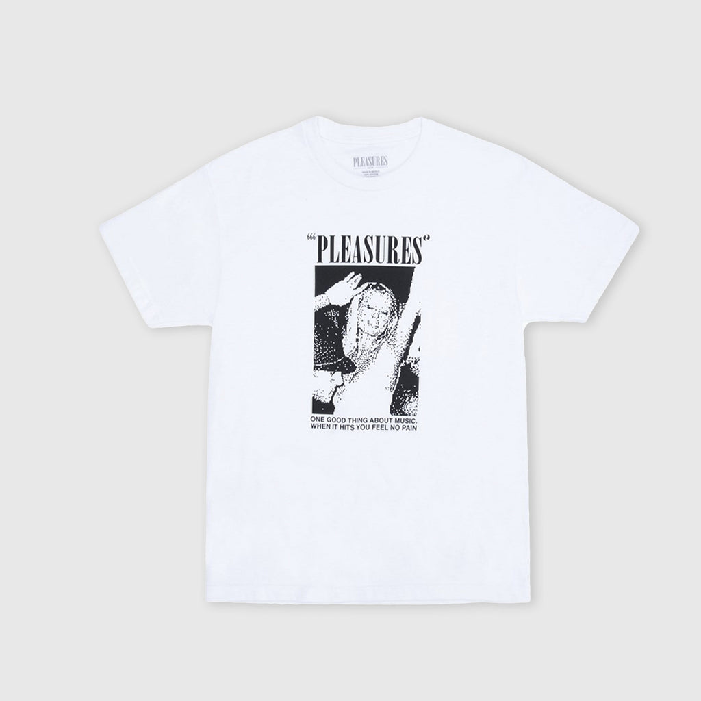 Pleasures SS One Night Tee - White  Front