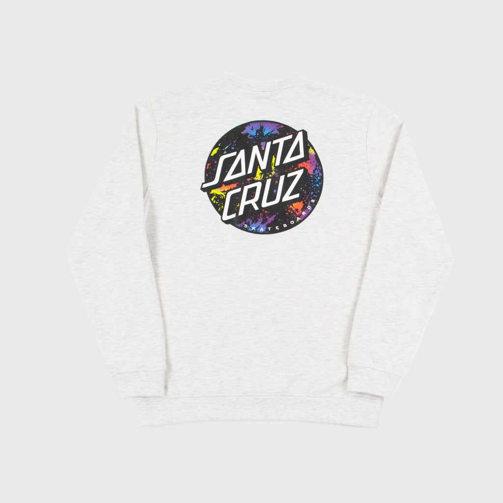 Santa Cruz Dot Splatter Crew - Athletic Heather Back View