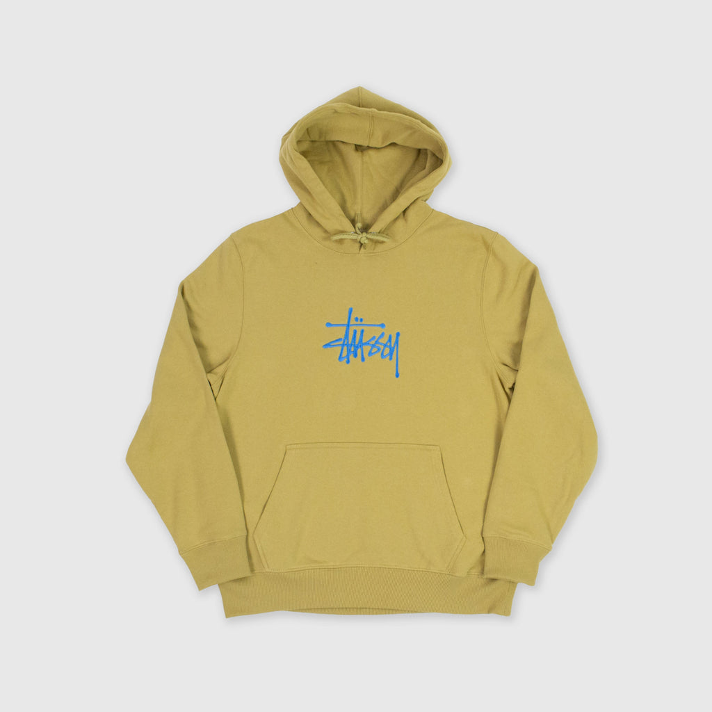 Stussy Basic Embroidered Hood - Khaki Front