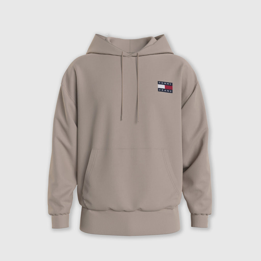 Tommy Jeans Badge hood - Soft Beige Front
