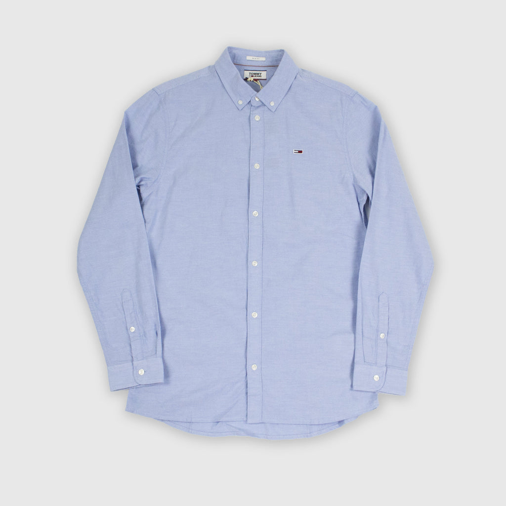 Tommy Jeans LS Stretch Oxford Shirt - Perfume Blue Front