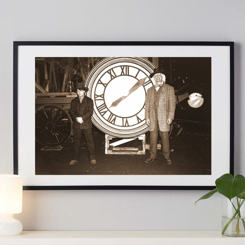 Back to the Future Poster Classic Movie Print Alternative Film Retro Photo Vintage Style Wall Art Canvas Painting Home Decor