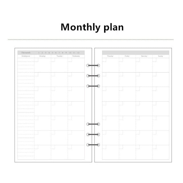 Planner in Ringbuchform