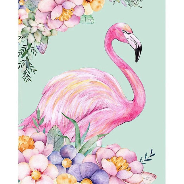 DIY Oil Painting Flamingo Picture Handpainted Christmas Crafts for Adults Paints By Number Kits On Canvas Picture Home Decor