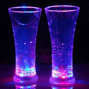 Colorful LED Glowing Cup Flash Water Induction Light Cup Drinking Wine Glasses