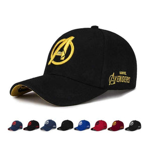 Unisex Marvel Avengers LOGO Embroidery Casual Outdoor Baseball Caps For Men Snapback Caps For Adult Sun Hat - Keys 4 Tees