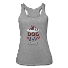 Women's Tri-Blend Racerback Tank = Dog Life - heather gray