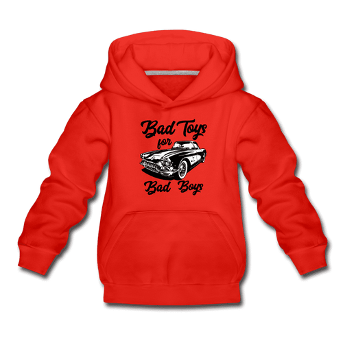 Kids' Premium Hoodie = Bad Toys For Bad Boys - red
