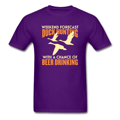 Unisex Classic T-Shirt = Duck Hunting-Beer Drinking - purple