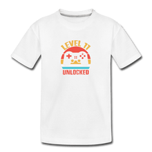 Kid's Premium Organic T-Shirt = Level 11 Unlocked - white