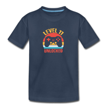 Kid's Premium Organic T-Shirt = Level 11 Unlocked - navy